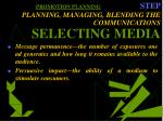 promotion planning step planning managing blending the communications selecting media33