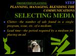 promotion planning step planning managing blending the communications selecting media34