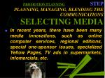 promotion planning step planning managing blending the communications selecting media35