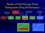 model of oral dosage form endogenous drug performance