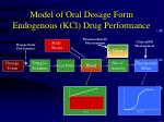 model of oral dosage form endogenous kcl drug performance