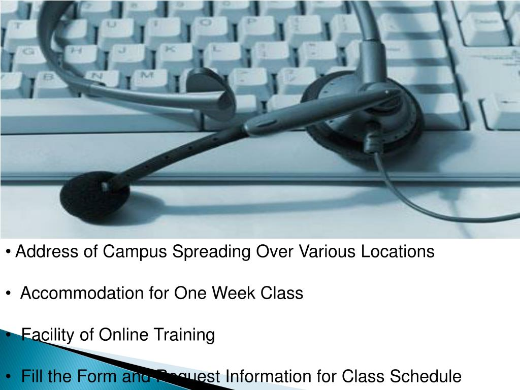 Address of Campus Spreading Over Various Locations