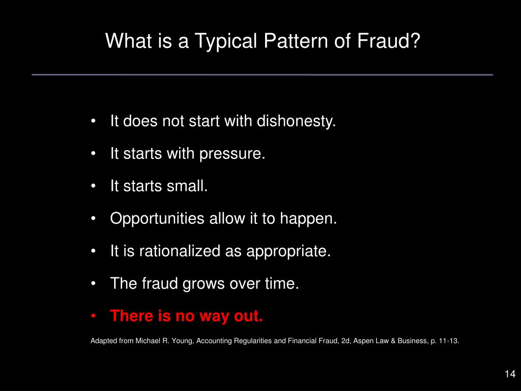 What is a Typical Pattern of Fraud?