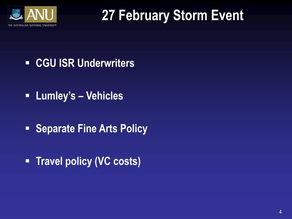 27 February Storm Event