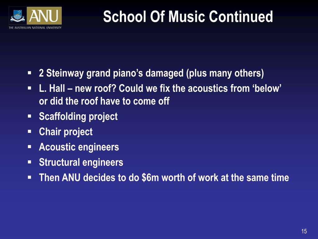 School Of Music Continued