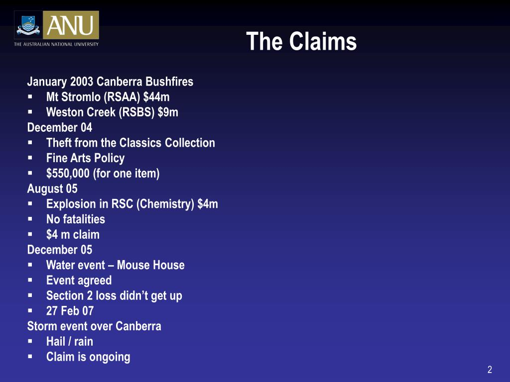 The Claims