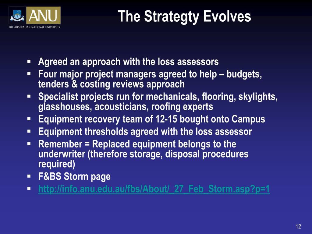 The Strategty Evolves