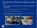 systems for chemical countermeasures