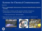 systems for chemical countermeasures6