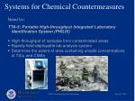 systems for chemical countermeasures7