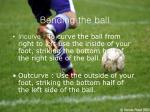 bending the ball