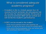 what is considered adequate academic progress9
