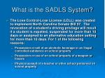 what is the sadls system3