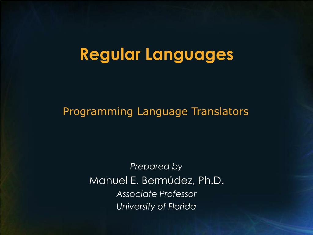 regular languages l.