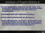 analysis of poem stanza 6