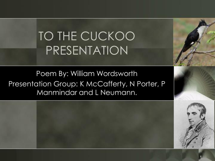 to the cuckoo presentation n.