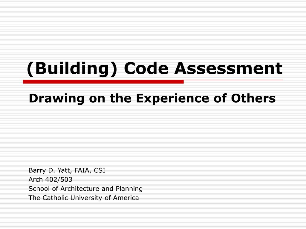 building code assessment l.