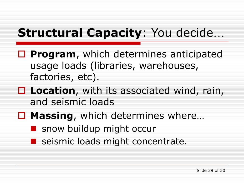 Structural Capacity