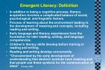emergent literacy definition