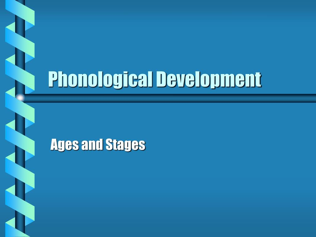 phonological development l.
