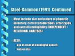 stoel gammon 1991 continued