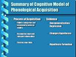 summary of cognitive model of phonological acquisition12