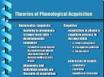 theories of phonological acquisition10