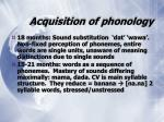 acquisition of phonology