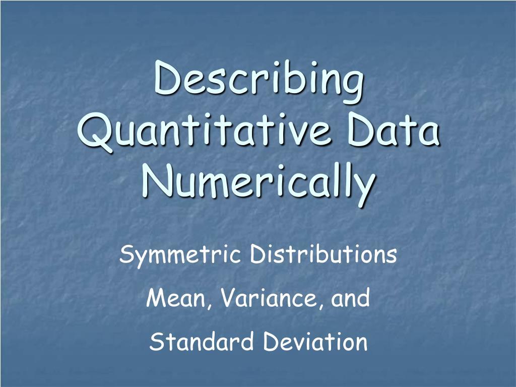 describing quantitative data numerically l.