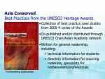 asia conserved best practices from the unesco heritage awards