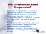 what is performance based compensation