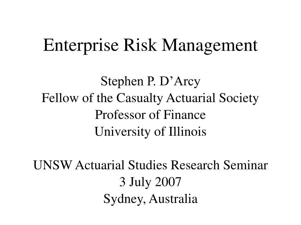 enterprise risk management l.