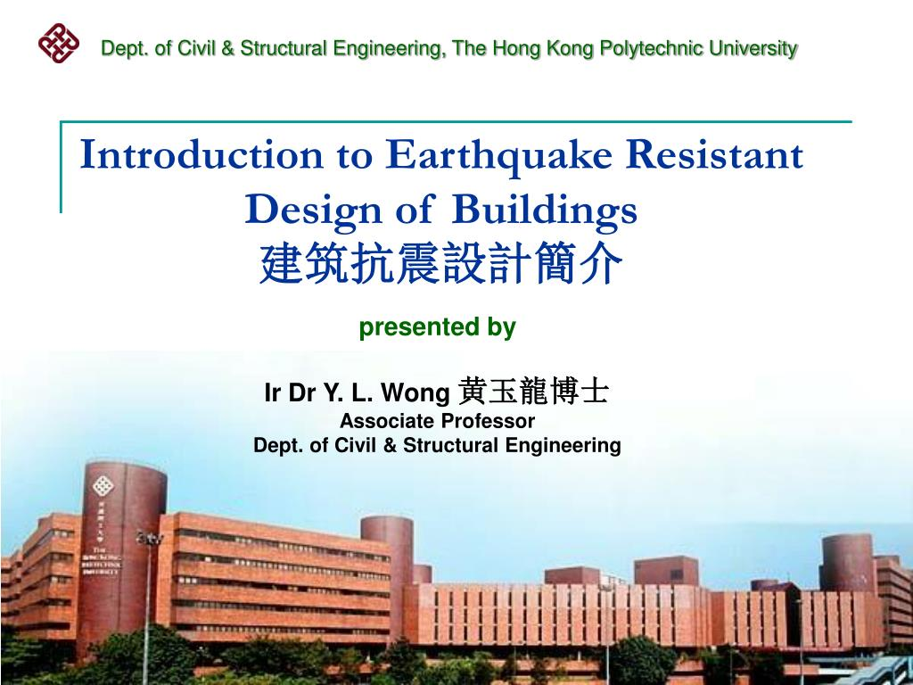 introduction to earthquake resistant design of buildings l.