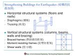 strengthening buildings for earthquakes