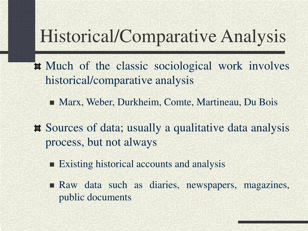 Historical/Comparative Analysis