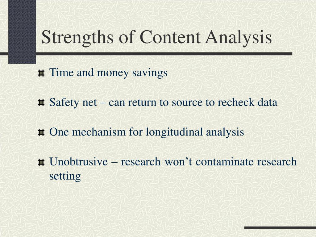 Strengths of Content Analysis