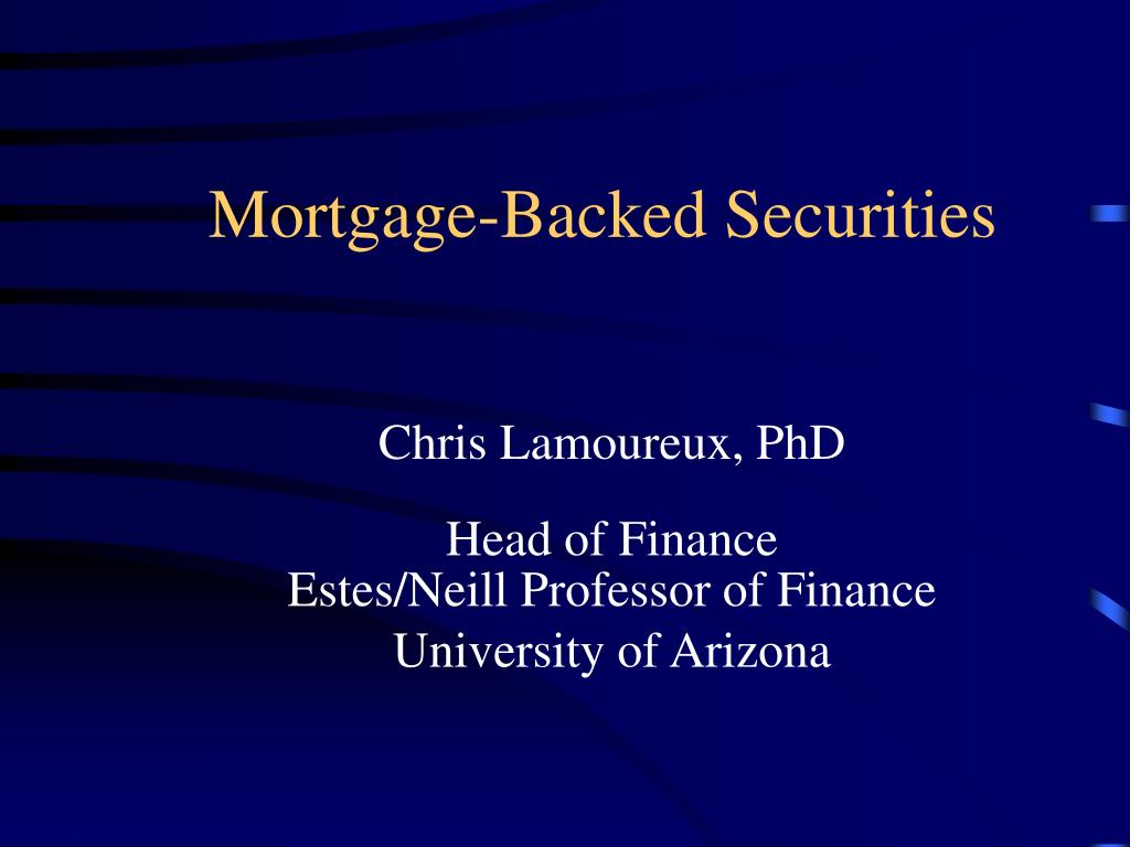 mortgage backed securities l.