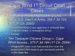 cape wind 1 st circuit court cases