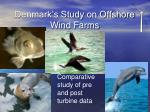 denmark s study on offshore wind farms
