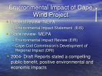 environmental impact of cape wind project