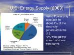 u s energy supply 2009
