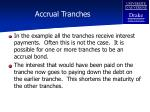 accrual tranches