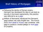 brief history of mortgages