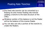 floating rate tranches