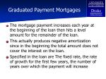 graduated payment mortgages