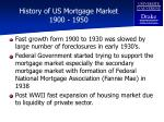 history of us mortgage market 1900 1950