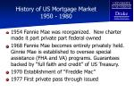 history of us mortgage market 1950 1980