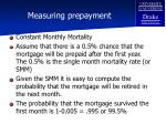 measuring prepayment