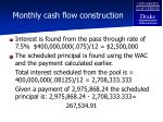 monthly cash flow construction