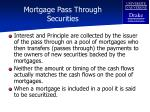 mortgage pass through securities